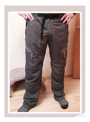 Mens Quick-Drying Leisure Travel Pants - Convert to Shorts by Unzipping Legs