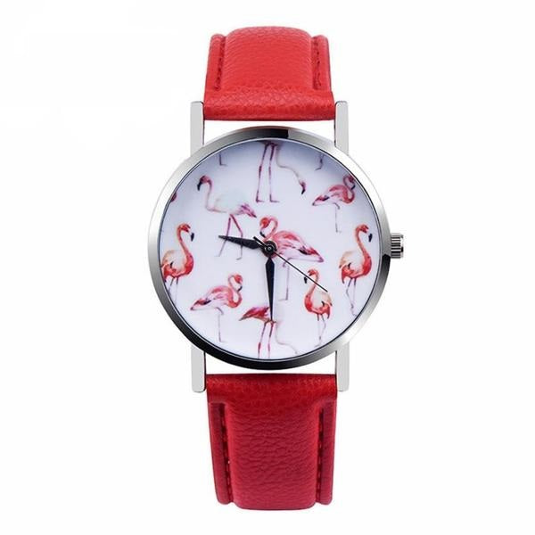 Womens Quartz Flamingo Watch