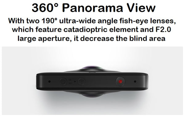 360° Panorama Action Cam 23.88MP/Ambarella A12/3.5K HD Video Record/WiFi/Bluetooth