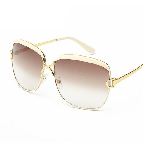 Womens High-Quality Designer Brand Luxury Sunglasses D Frame, Gradient UVA/UVB Lenses