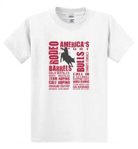 Rodeo America's Sport - Mens T-Shirt