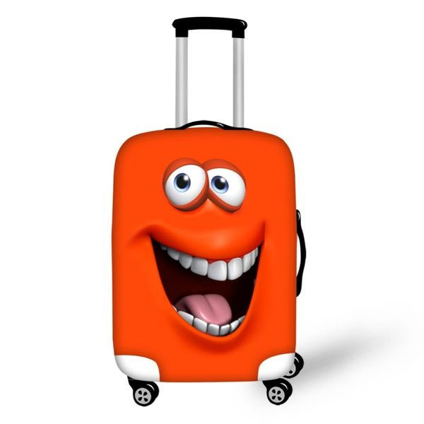 "Smiley Face Emoji Luggage Protector/Suitcase Cover for 18""-30"" Trolley Case"