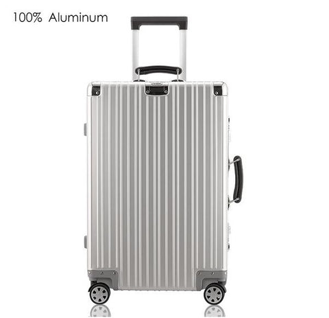 "100% Aluminum Hard Sided Rolling Luggage Comes in 20"" Carry-On, 25"" or 29"" Check-Ins"
