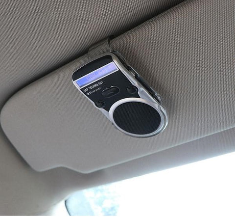 Solar Bluetooth Speaker - Hands-Free Cellphone Use While Driving, with LCD Display & Car Charger