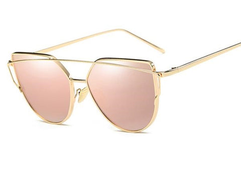 Cat Eye Fashion Sunglasses with Alloy Optical Frames