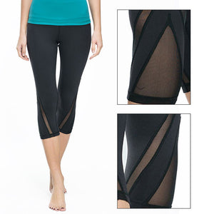 Womens Sexy Mesh Yoga Pants/Leggings - Breathable & Quick Dry Sportswear