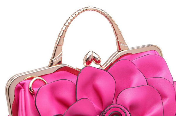 Famous Luxury Flower Rosete Fashion Handbag/Shoulder Bag