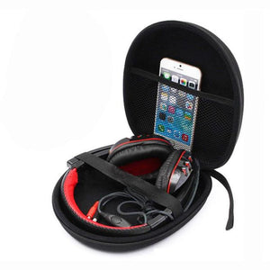 Hard Carrying Case For Headphones (Not Included)