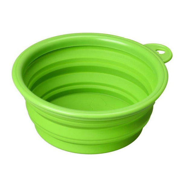 Collapsible Pet Bowl For The Traveling Dog or Cat