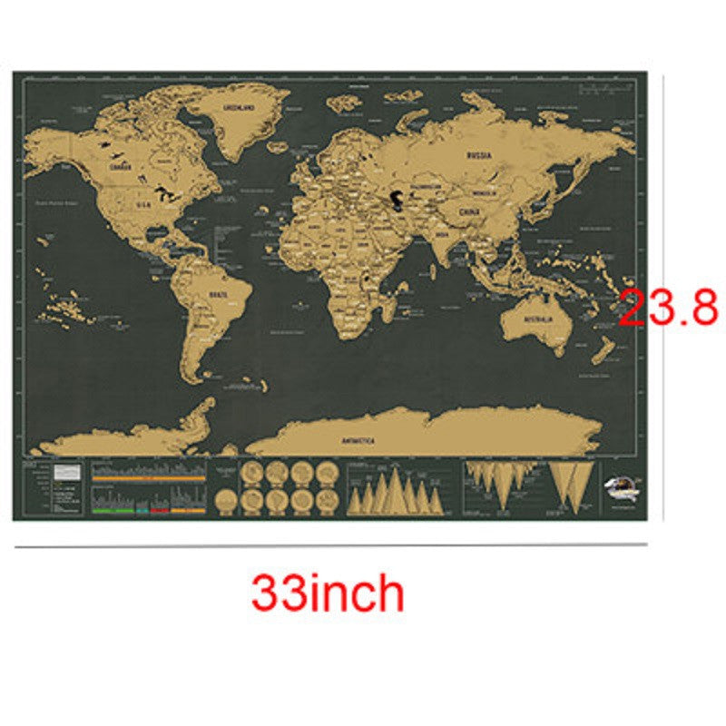 Scratch Off World Map Poster.Deluxe Scratch Off World Map Poster Vacation Log Available In 2