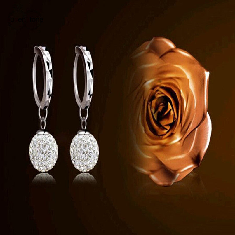 Sterling Silver Fashion Drop Earrings