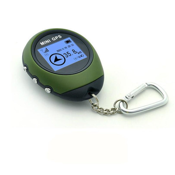 Mini GPS Receiver Tracker & Location Finder Keychain For Outdoor Adventurists - USB Rechargeable