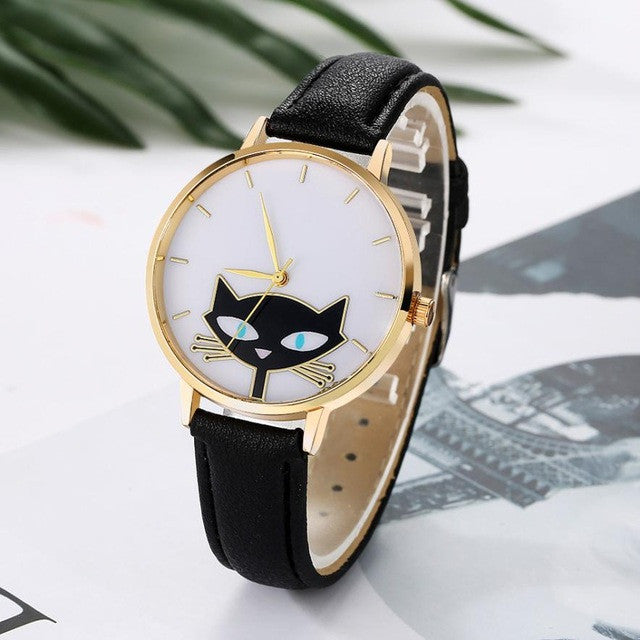 Womens Fashion Watch For Cat Lovers