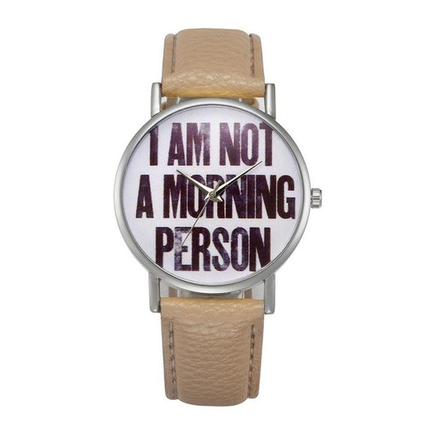 Not a Morning Person? Womens Retro Style Watch Just For You