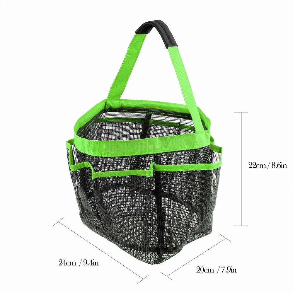 Mesh Storage Tote Bag - Organizer Your Necessities (Many Uses: Shower, Beach, Camping, Picnic, etc.)