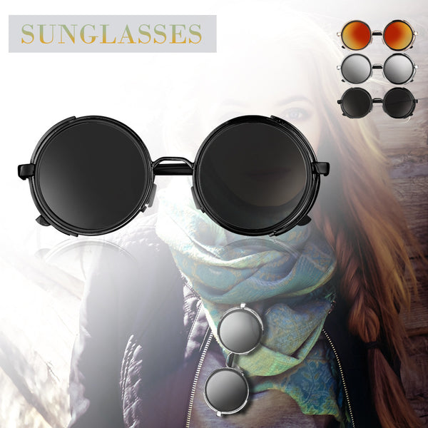 Round Mirrored Vintage Punk Sunglasses
