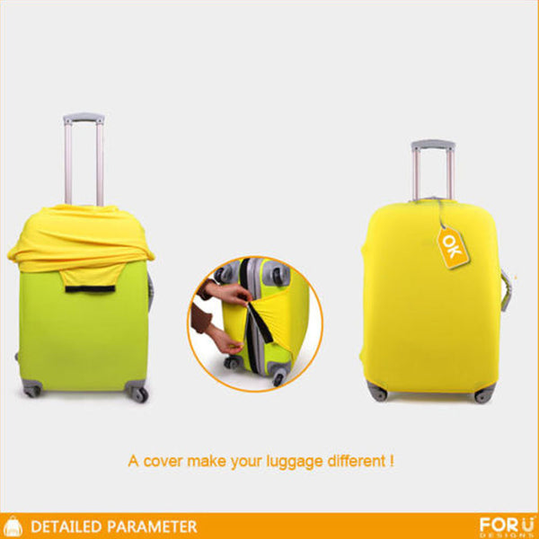 "3D Print Suitcase/Luggage Protection Cover for 18""-30"" Trolley Suitcases"