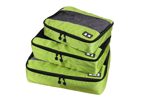 Travel Packing Cubes (S, M & L / 3 Pc. Set) - Use in Suitcases & Backpacks or for the Gym