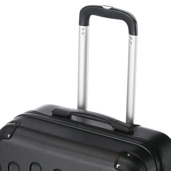 "3 Piece Black ABS Trolley Suitcases/Luggage Set 20"", 24"" & 28"""