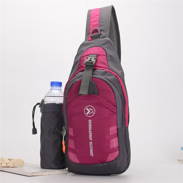 Sling Backpack with Detachable Water Bottle Pouch - Wear Resistant & Waterproof!