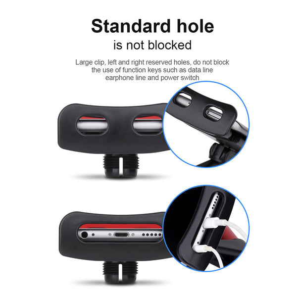360° Multi-Use Car Seat Headrest Phone/Tablet/PC Stand for Back Seat Passengers
