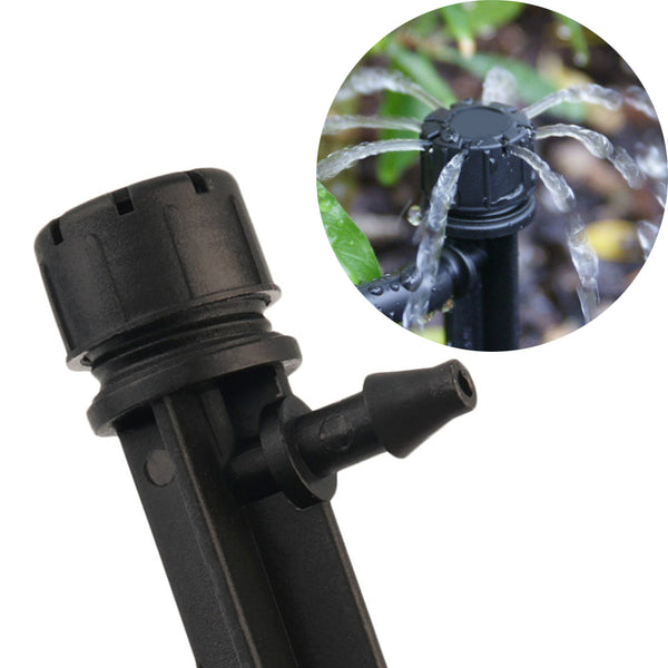 50 Stream Irrigation 360° Drip System Emitters On Stakes For Landscape & Gardens While You're Away