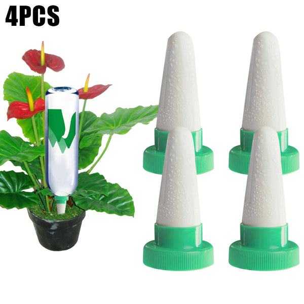 4 Piece Ceramic Automatic Self Watering Plant Spikes For While You're Away
