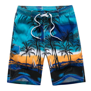 Hawaiian Palm Tree Bermuda Beach/Swim Shorts