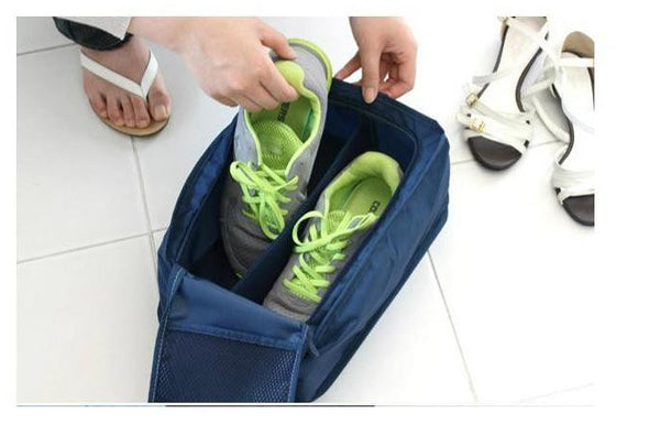 Waterproof Shoe Travel Bag with Zipper Closure & Ventilation