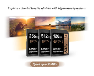 Carte SD Lexar Original 95MB/s 633x UHS-I Flash Card