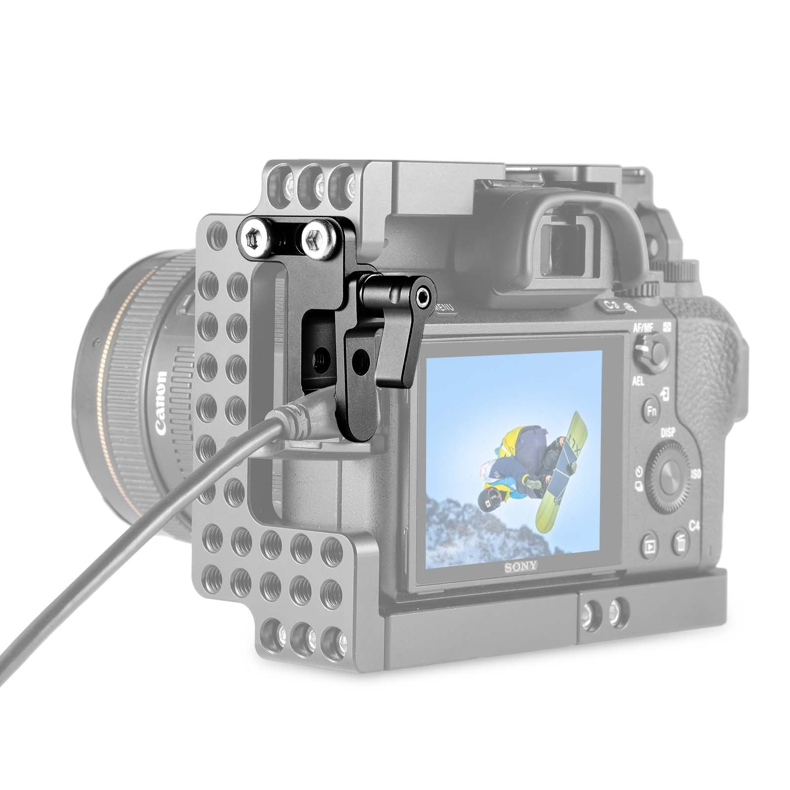 SmallRig Camera HDMI Lock pour Sony A7ii A7III A7RIII SmallRig Cage 1673,1675 and 1660 2087 - 1679 2629