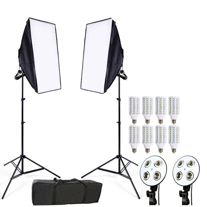 Eclairage LED studio 45W + porteur de LED + softbox + trépied