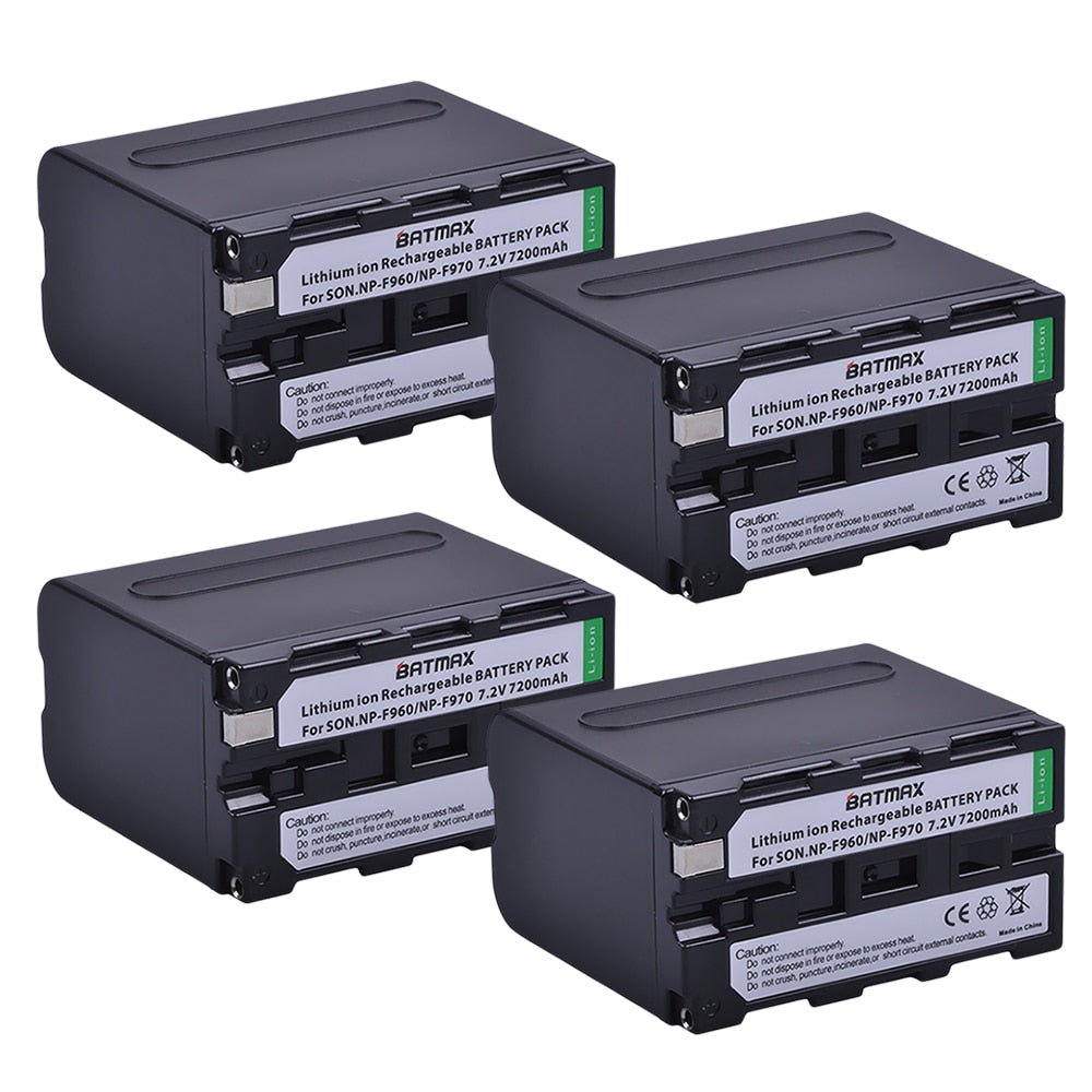 Batterie Batmax NP F960 F970 *4 pour Sony NP-F550 NP-F770 NP-F750