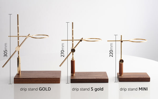 Line dripstand GOLD full SET 02 - HOLZKLOTZ - Specialty Hub