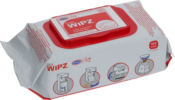 Café Wipz Coffee Equipment Cleaning Wipes - 100 Wips - Specialty Hub