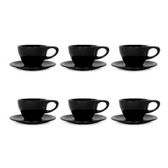 LINO Latte Cup Black (Set of 6) - notNeutral - Specialty Hub