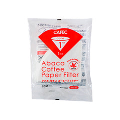 Cafec filter paper 1 cup 100 pcs - فلتر ورقي 1 كوب
