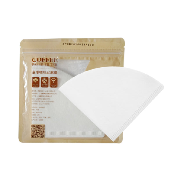 Timemore Filter Paper 01  (v60) White 1-2 cups - فلاتر قمع التقطير كريستال مور مقاس 01