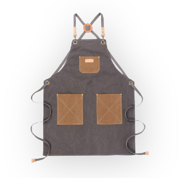 Grey Canvas Apron - 063D - Specialty Hub