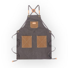 Grey Canvas Apron - 063D