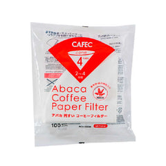 Cafec filter paper 4 cup 100 pcs - فلتر ورقي 4 كوب
