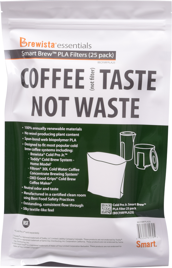 Smart Brew PLA Cold Pro Jr. Gusseted Filter Pack of 25 Filters - Brewista - Specialty Hub