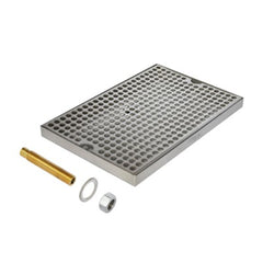 C624 - Medium Brewing Tray with Drain - Krome
