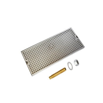 C627 - Larg Brewing Tray with Drain -  Krome - Specialty Hub