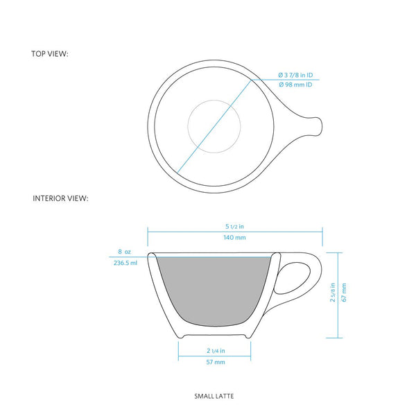 LINO Latte Cup White (Set of 6) - notNeutral - Specialty Hub