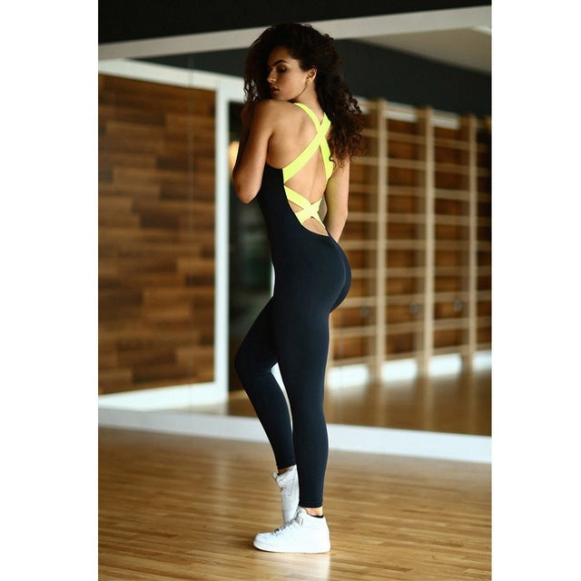 Women's Criss-Cross Back Sport Suit - ShE HAUTE FITNESS