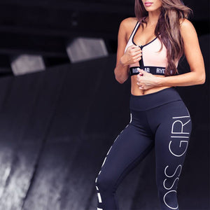 Women's High-Waist Sport Leggings - ''#Boss Girl'' - ShE HAUTE FITNESS