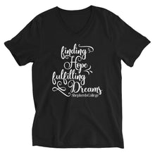 "Shepherds College ""Finding Hope, Fulfilling Dreams"" V Neck Tee - Black"