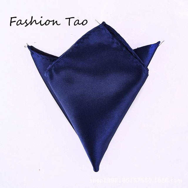 Formal Satin Pocket Squares - Select Style gold