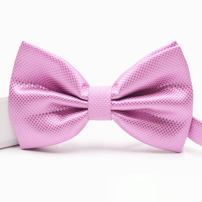 Formal Wear Solid Bow Ties a12 Burgundy